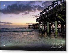 1st Dawn Cocoa Pier Acrylic Print by Jennifer White