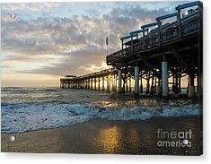 1st Sunrise 2017 Cocoa Beach Acrylic Print