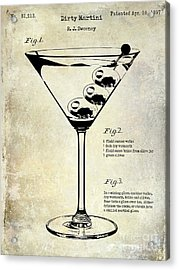 1897 Dirty Martini Patent Acrylic Print