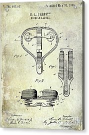 1898 Bicycle Saddle Patent Acrylic Print