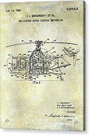1950 Helicopter Patent Acrylic Print by Jon Neidert