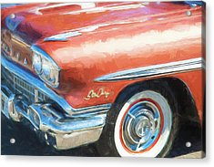 Acrylic Print featuring the photograph 1958 Pontiac Star Chief  by Rich Franco