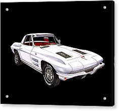 1963 Corvette Roadster Acrylic Print by Jack Pumphrey