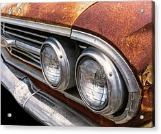 Acrylic Print featuring the photograph 50s Chevrolet Front End by Jim Hughes