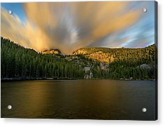 Acrylic Print featuring the photograph 2 / 51  Bear Lake's Hallett Peak #2 by John Gilbert
