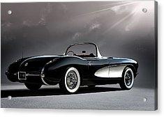 '56 Corvette Convertible Acrylic Print
