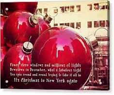 6th Avenue Quote Acrylic Print by JAMART Photography