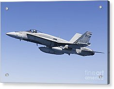 A Cf-188a Hornet Of The Royal Canadian Acrylic Print by Gert Kromhout