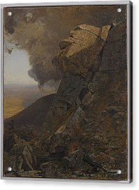 A Cliff In The Katskills Acrylic Print by Jervis McEntee