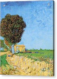 A Lane Near Arles Acrylic Print by Vincent Van Gogh