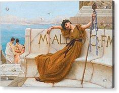 A Priestess Of Bacchus Acrylic Print
