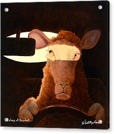 Acrylic Print featuring the painting A Sheep At The Wheel... by Will Bullas