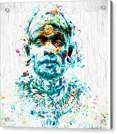 A Tribesman In Dress From Africa Acrylic Print