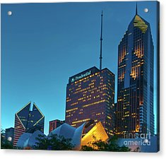 A View From Millenium Park At Dusk Acrylic Print