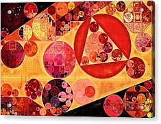 Abstract Painting - Bulgarian Rose Acrylic Print by Vitaliy Gladkiy