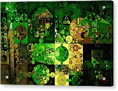 Acrylic Print featuring the digital art Abstract Painting - Dell by Vitaliy Gladkiy