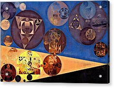 Abstract Painting - Earth Yellow Acrylic Print by Vitaliy Gladkiy
