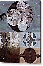 Abstract Painting - French Grey Acrylic Print by Vitaliy Gladkiy