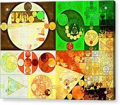 Abstract Painting - Kelly Green Acrylic Print by Vitaliy Gladkiy