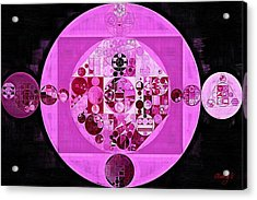 Acrylic Print featuring the digital art Abstract Painting - Lavender Magenta by Vitaliy Gladkiy