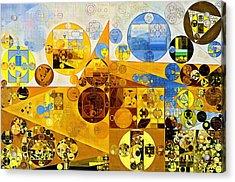 Abstract Painting - Morocco Brown Acrylic Print by Vitaliy Gladkiy