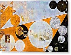 Abstract Painting - Ochre Acrylic Print by Vitaliy Gladkiy