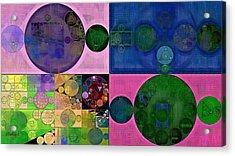 Abstract Painting - Resolution Blue Acrylic Print by Vitaliy Gladkiy