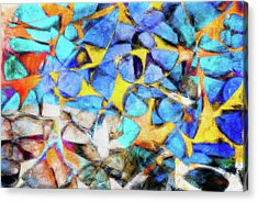 Abstract Painting Acrylic Print by Tom Gowanlock