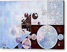 Abstract Painting - Zumthor Grey Acrylic Print by Vitaliy Gladkiy