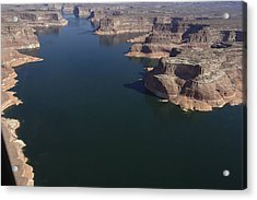 Aerial View Of Lake Powell Acrylic Print by Carl Purcell