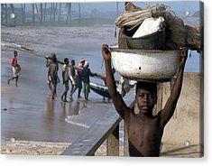 African Fishermen Acrylic Print