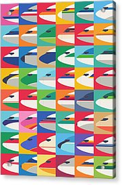 Airline Livery - Pattern Acrylic Print by Ivan Krpan