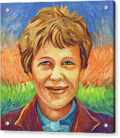 Amelia Earhart Portrait Acrylic Print