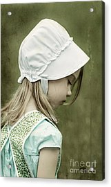 Amish Child Acrylic Print by Stephanie Frey