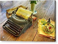 An Author's Tools Acrylic Print by Lynn Palmer