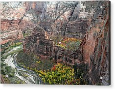Angels Landing In Zion Acrylic Print by Pierre Leclerc Photography