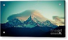 Annapurna South At Sunrise In Himalayas Artmif Photo Raimond Klavins Acrylic Print
