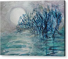 another  Moon river Acrylic Print by Mary Sonya  Conti
