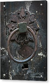 Acrylic Print featuring the photograph Antique Door Knocker by Elena Elisseeva
