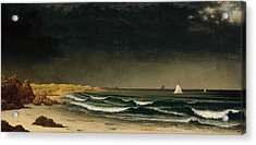Approaching Storm Beach Near Newport Acrylic Print
