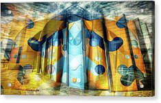 Acrylic Print featuring the photograph Architectural Abstract by Wayne Sherriff