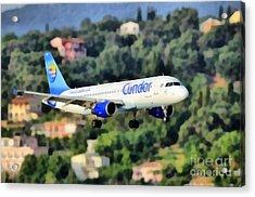 Arriving At Corfu Airport Acrylic Print