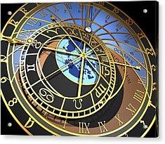 Astronomical Clock, Artwork Acrylic Print by Pasieka