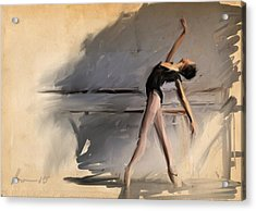 At The Barre Acrylic Print by H James Hoff