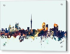 Auckland New Zealand Skyline Acrylic Print