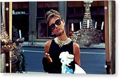 Audrey Hepburn @ Breakfast At Tiffanys Acrylic Print
