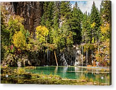 Autumn At Hanging Lake Waterfall - Glenwood Canyon Colorado Acrylic Print