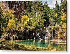 Autumn At Hanging Lake Waterfall - Glenwood Canyon Colorado Acrylic Print