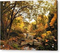 Autumn Garden Acrylic Print by Jessica Jenney