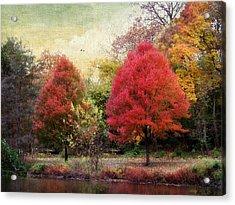 Autumn's Canvas Acrylic Print by Jessica Jenney